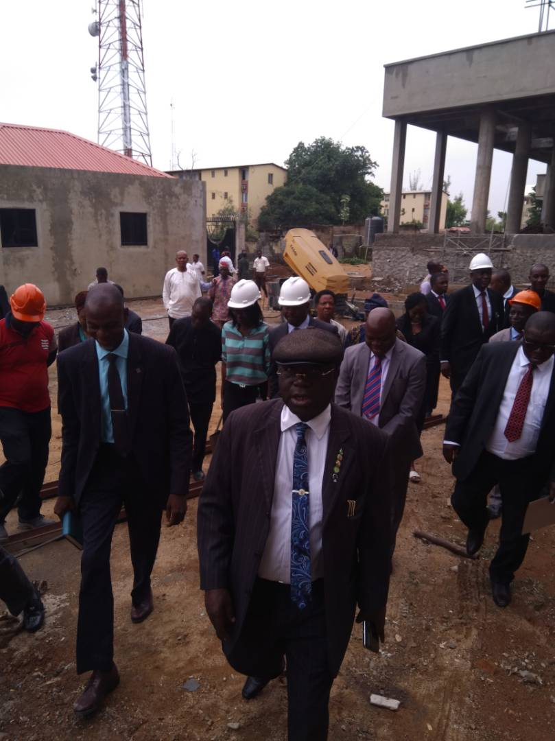 The inspection of the NICN permanent court complex by the committee on on-going projects in the Judiciary - Headed by Hajiya Rakiya Sarki Ibrahim ( MON), Thursday 10th May, 2018.