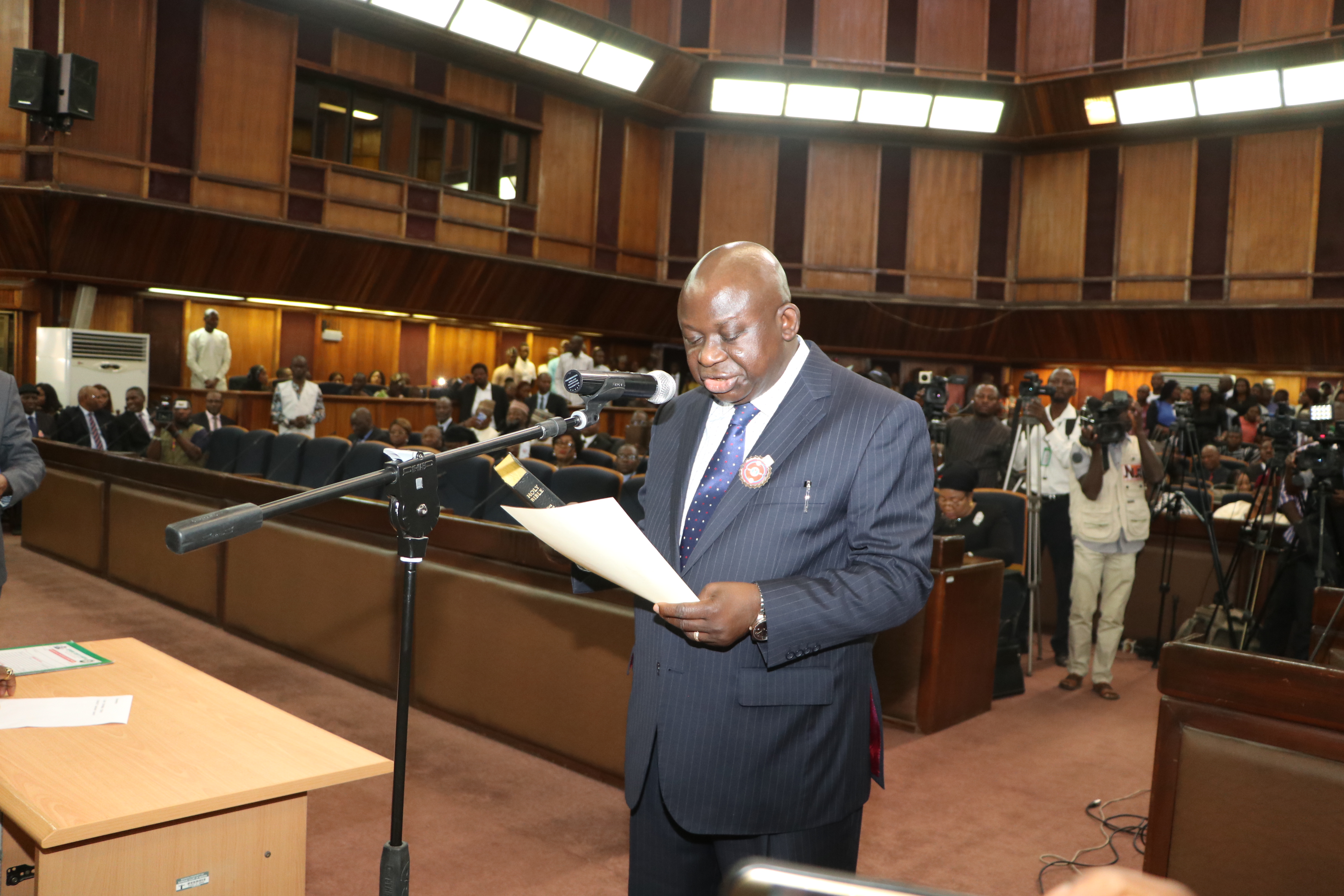 Justice Kanyip Sworn In as Substantive President of National Industrial Court.